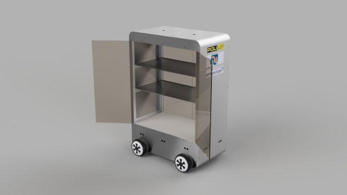 Robô hospitalar desenvolvido por projeto da USP. [Fonte: acervo da iniciativa]